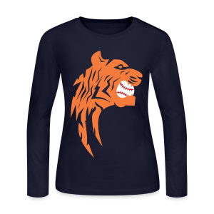 Detroit Tigers Baseball - Women's Long Sleeve Jersey T-Shirt