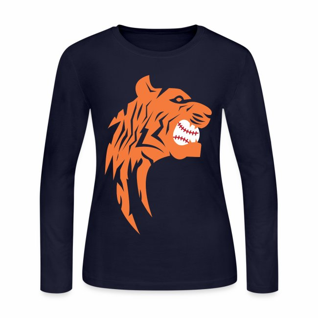 the latest 8949c d834b Detroit Tigers Baseball | Women's Long Sleeve Jersey T-Shirt