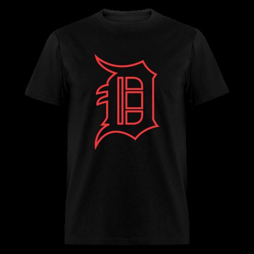Outline D Red - Men's T-Shirt