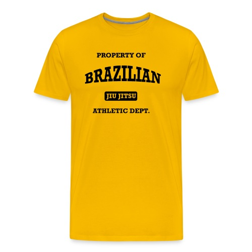 Brazilian Jiu Jitsu Athletic Department Shirt - Men's Premium T-Shirt