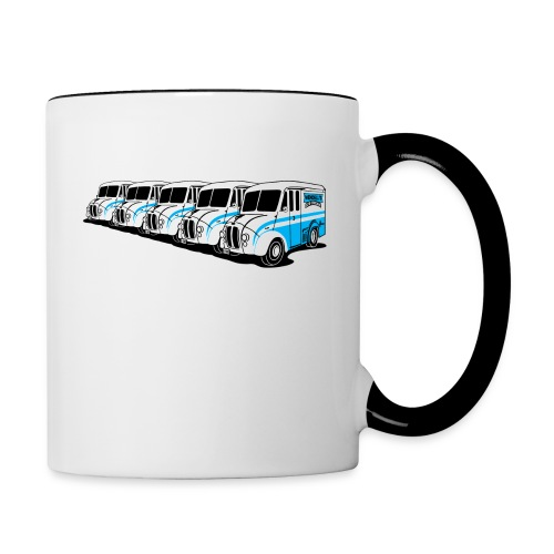 5 Ice Cream Trucks coffee mug - Contrast Coffee Mug