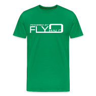 T-Shirts ~ Men's Premium T-Shirt ~ Powered By Fly Halo - blue