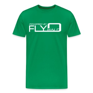 Powered By Fly Halo - blue - Men's Premium T-Shirt