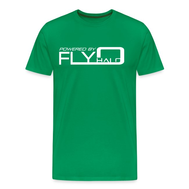 Powered By Fly Halo - blue