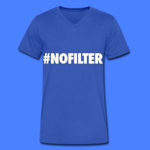 #NOFILTER T-Shirts - Men's V-Neck T-Shirt by Canvas