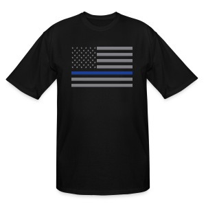 Thin Blue Line Flag - Men's Tall T-Shirt