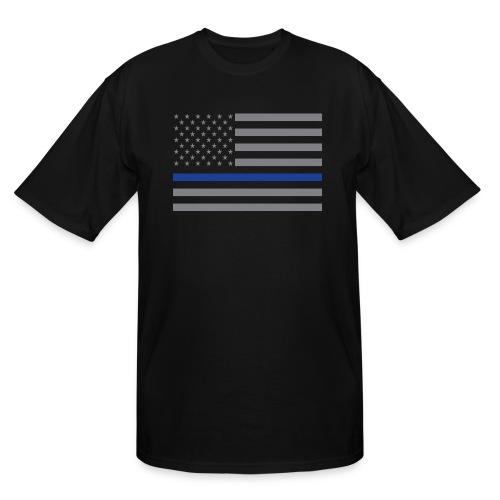 Thin Blue Line Flag - Men's Tall T-Shirt