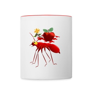 Fire Ant and Picnic Apple - Contrast Coffee Mug