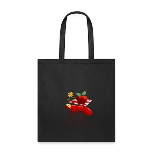 Fire Ant and Picnic Apple - Tote Bag