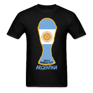 T-Shirts ~ Men's T-Shirt ~ Argentina World Cup 2014 Trophy Shirt