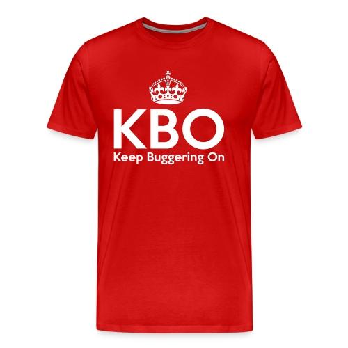 KBO - Keep Buggering on - Men's Premium T-Shirt