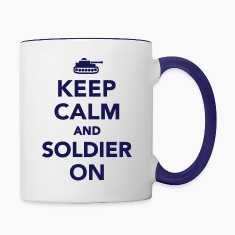 Keep calm and Soldier on Bottles & Mugs