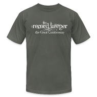 T-Shirts ~ Men's T-Shirt by American Apparel ~ the record keeper is the great controversy - men's