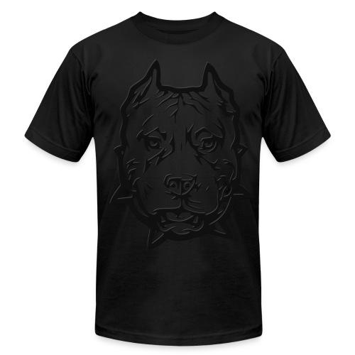 Black Pitbull T - Men's Fine Jersey T-Shirt