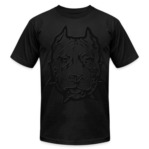 Black Pitbull T - Men's  Jersey T-Shirt