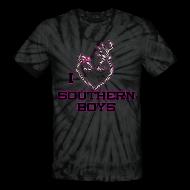 T-Shirts ~ Unisex Tie Dye T-Shirt ~ Tie Dye I Love Southern Boys