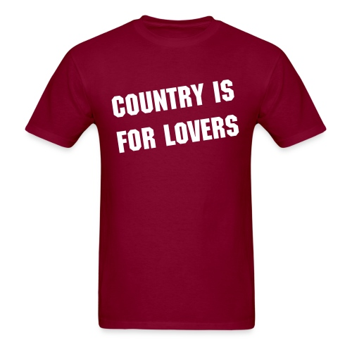Country is for Lovers - Men's T-Shirt
