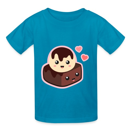 Ice Cream Brownie - Big Eyed Foodie - Kids' T-Shirt