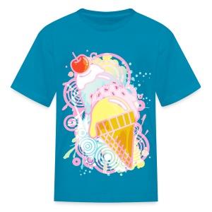 Drip Cone - Big Eyed Foodie - Kids' T-Shirt