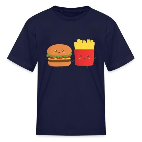 Burger and Fry - Big Eyed Foodie - Kids' T-Shirt