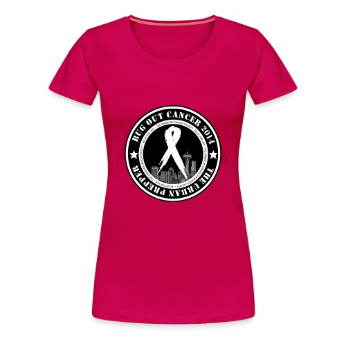 Bug Out Cancer Patch - Women's Premium T-Shirt
