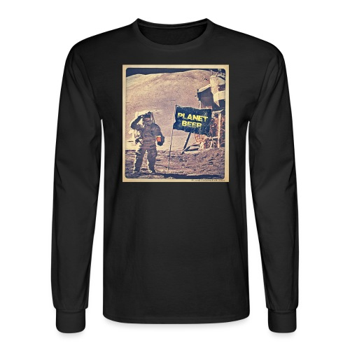 One Small Sip For Man Men's Long Sleeve T-Shirt - Men's Long Sleeve T-Shirt