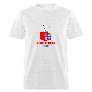 Médias de Masse au Québec - T-shirt pour hommes