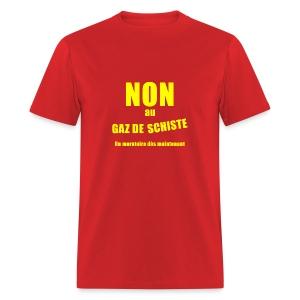 Non au GAZ de Schiste - T-shirt pour hommes