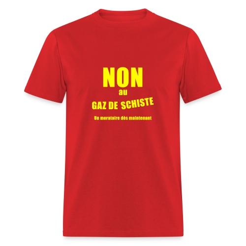 Non au GAZ de Schiste - Men's T-Shirt