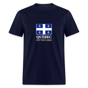 Québec est mon pays  - T-shirt pour hommes