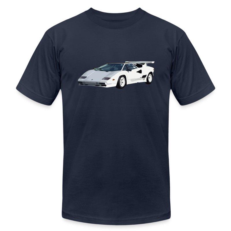 80 39 s white lamborghini t shirt spreadshirt. Black Bedroom Furniture Sets. Home Design Ideas