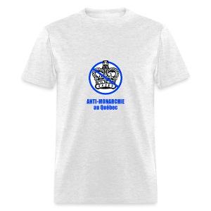 Anti-monarchie au Québec  - T-shirt pour hommes