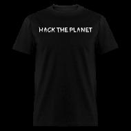 T-Shirts ~ Men's T-Shirt ~ Hack The Planet [White]