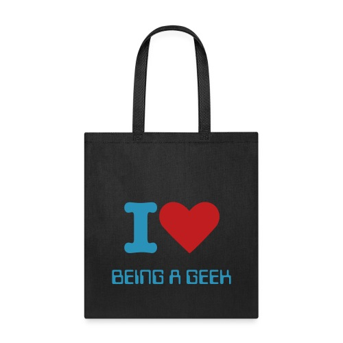 I Heart being  a geek Tote bag  - Tote Bag