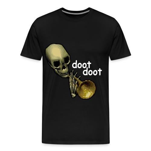 Skeleton Trumpet doot doot Tee - Men's Premium T-Shirt