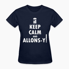 Keep Calm and Allons-y! Distressed / Robot Plunger
