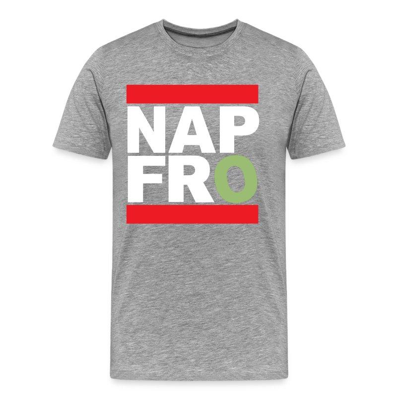 NAPFRO STAMP (GREY) - Men's Premium T-Shirt