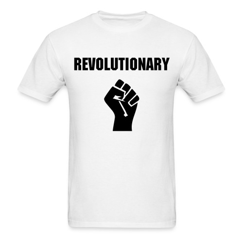 Revolutionary Fist Black letters Mens - Men's T-Shirt