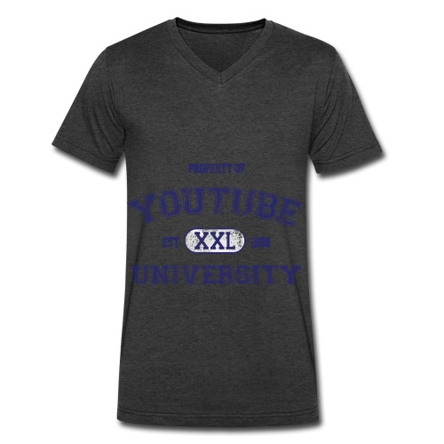 YouTube Academy V-Neck Tee - Men's V-Neck T-Shirt by Canvas