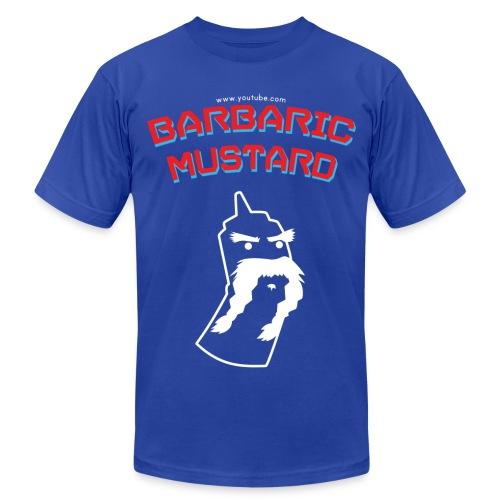 White Mustard Logo - Men's Fine Jersey T-Shirt