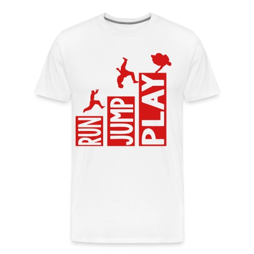 Run Jump Play - Men's Premium T-Shirt