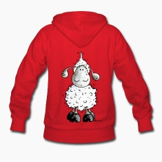 Little White Sheep Cartoon Hoodies