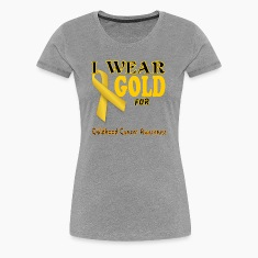 I wear gold for childhood awareness template Women's T-Shirts