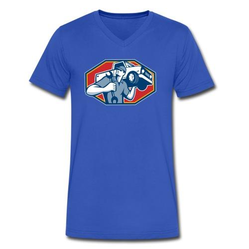 Auto Tech - Sean - Men's V-Neck T-Shirt by Canvas