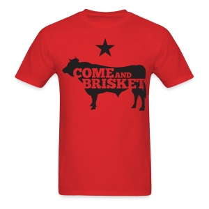 COME AND BRISKET (Black) - Men's T-Shirt