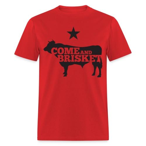 COME AND BRISKET (Black) - Men's T-Shirt