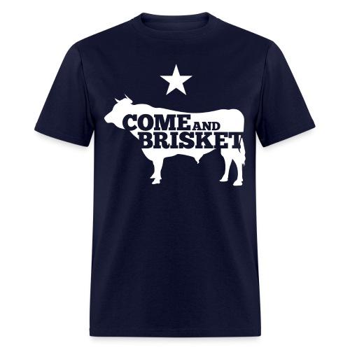 COME AND BRISKET (White) - Men's T-Shirt