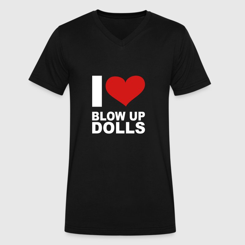 I Love Blow Up Dolls, cairaart.com T-Shirts - Men's V-Neck T-Shirt by Canvas
