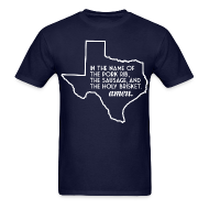 T-Shirts ~ Men's T-Shirt ~ The Texas BBQ Prayer