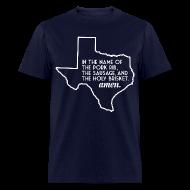 T-Shirts ~ Men's T-Shirt ~ The Texas BBQ Prayer
